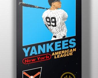 New York Yankees Retro NES Box Art Print- Aaron Judge