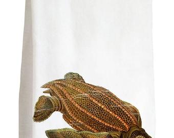 HAECKEL SEA TURTLE - 100% Cotton Flour Sack Kitchen Tea Towel