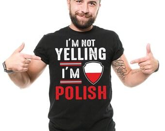 Poland T-Shirt Funny Polish Patriot Nationality Poland Flag Proud Polish Tee Shirt