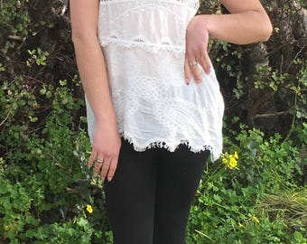 Womens Tunic,Summer Blouse,White Blouse,Womens White Shirt,Blouses For Women,Tunic Blouse,Top & Tees,Boho Blouse,Embroidered Top,Blouses