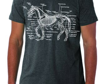 Horse Shirt - Horse Tee Shirt - Horse Anatomy Shirt - Horse Lover Gift - Barn Shirt // Gift for Boyfriend - Gift for Men - Gift for Him