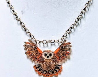 Stylized animals. Choose your favorite. Whimsical statement necklace.