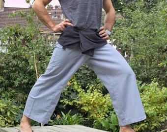2 tones selected choice of Thai Fisherman Pants. Yoga and meditation wrap trousers