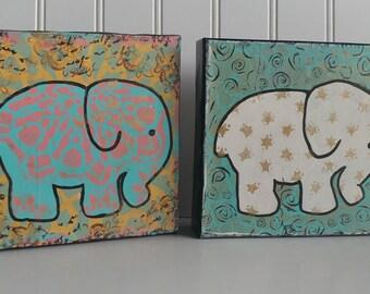 celestial bohemian baby elephant wall art elephant nursery elephant shower baby shower gift baby gift nursery decor starry glitter shimmer