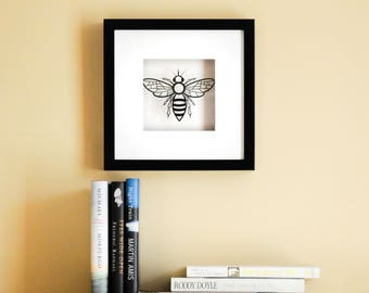 Framed Paper Cut Bee