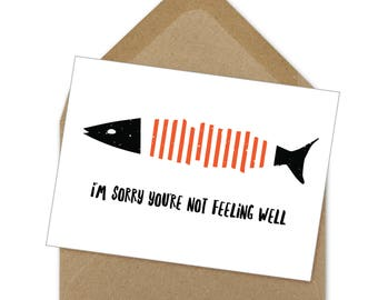 sorry you're not feeling well card | A6