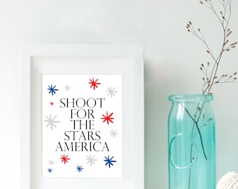 4th of July party printable, July 4th decor, 4th of July decorations, party decorations, July 4th party, July 4th decor, printable