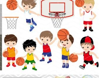 Instant Download Basketball Boys Digital Clipart, Digital Basketball Boy Clip Art, Sport Clipart, Sport Boys Digital Clip Art 0259