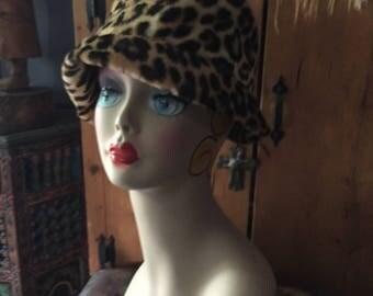 Vintage Leopard Soft Plush Hat
