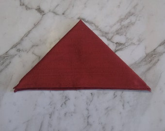 The 'Rhett' rustic red pocket square