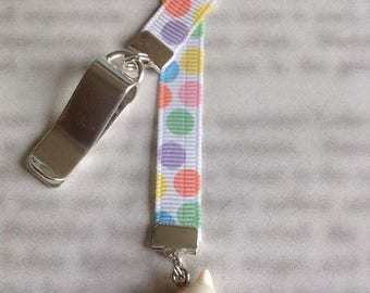 ON SALE Cat bookmark / Kitten bookmark / Cute Cat bookmark - Attach to book cover then mark the page with the ribbon. Never lose your bookma
