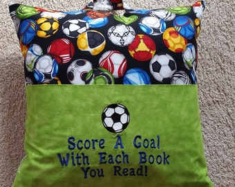 Reading Pillow - Score a Goal with Each Book You Read!