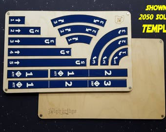 Deluxe Tray with Templates (incl. 3 range rulers)