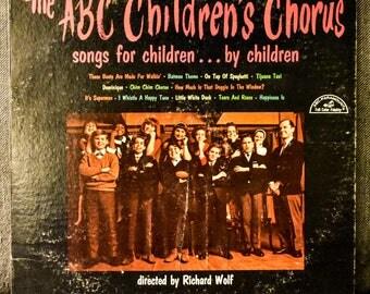 The ABC Children's Chorus Songs For Children By Children LP Album Rare Promo White Label 1966 Kids On Top Of Spaghetti Vinyl Record
