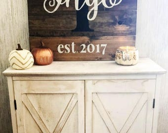 Personalized Family Name Sign - Last Name Sign - Large Wooden Sign - Gift for Family - Wedding Gift - Rustic Wood Name Sign - Housewarming