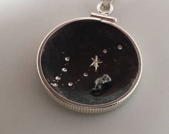 Meteorite Pendant | Pisces Jewelry | Outer Space Necklace | Zodiac Necklace | Astrology Jewelry | Galaxy Pendants | Constellation necklace