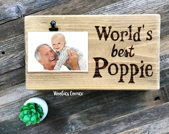 Poppy gifts, Grandpa frame, Fathers Day gift for Grandpa, Grandpa picture frame, Worlds best frame, Grandpa picture frame, Poppy photo frame