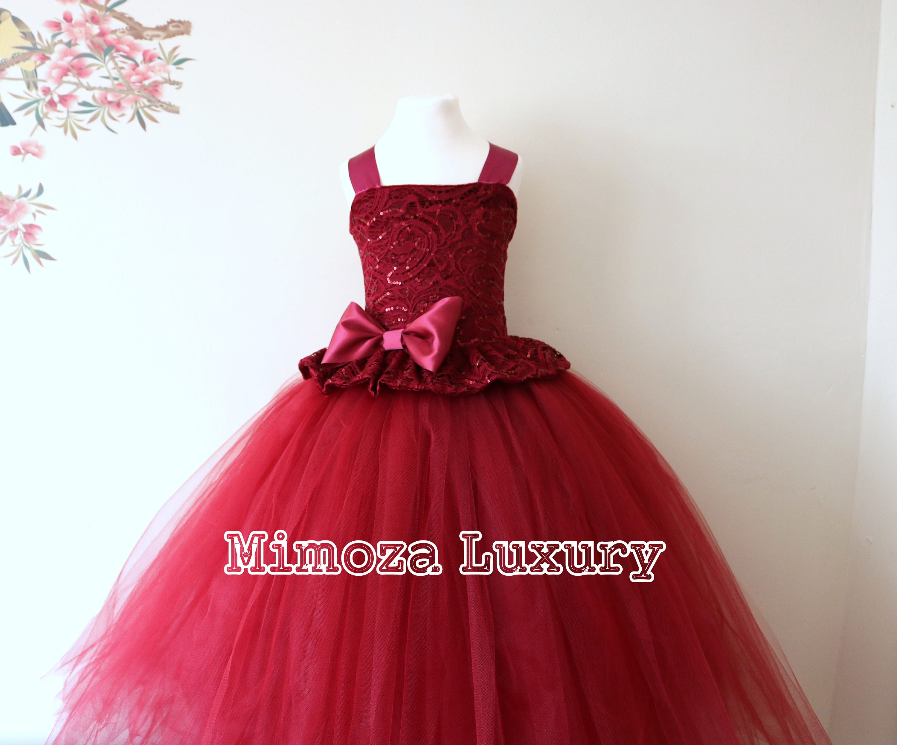 Burgundy flower girl dress burgundy bridesmaid dress couture burgundy flower girl dress burgundy bridesmaid dress couture flower girl gown bespoke girls dress tulle princess dress wine tutu ombrellifo Gallery