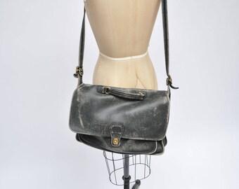 vintage coach leather satchel bag handbag briefcase purse tote messenger bag