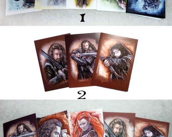 Set of fantasy postcards, set of your choice postcards with envelopes