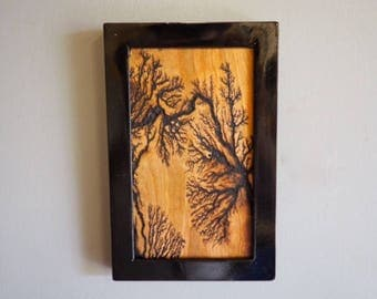 Items Similar To Inlaid Lichtenberg Figures Electrically