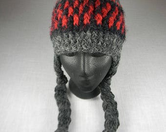 Ear Flap Hat, Peruvian Crash Helmet, Warm Winter Hat, Chullo Hat