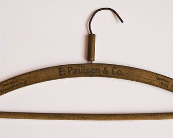 Vintage Wooden Hanger - clothes hanger, wood hanger, rustic hanger, Pants Clothes Hangers, antique hanger