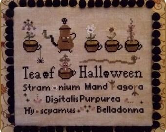 Tea of Halloween - PDF Cross Stitch Pattern