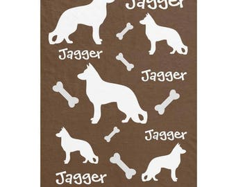 German Shepherd Dog Personalized Blankets for GSD