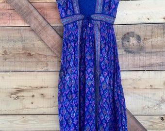 Vintage 70s Cotton Gauze Dress - XS