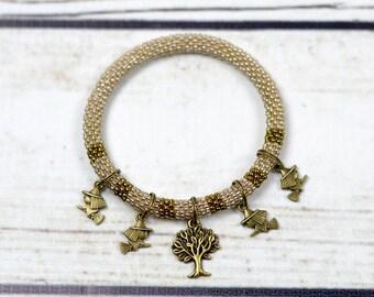Halloween charm bracelet Tree of Life halloween bracelet witch bracelet beaded bracelet halloween gift for mom cute gift idea for teen girls