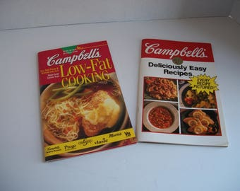 Campbell's Soup Cookbooks - 1990's Cambell's Soup Recipes - 1992 Campbell's Deliciously Easy Recipes - 1995 Campbell's Low Fat Cooking