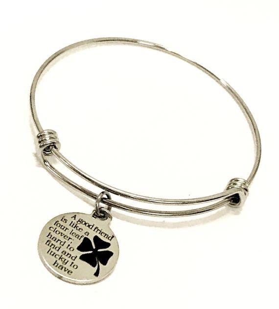 Friendship Bracelet, A Good Friend Is Like A Four Leaf Clover Bracelet, Friendship Gift, Good Friend Bracelet, Friend Gift, Best Friend Gift