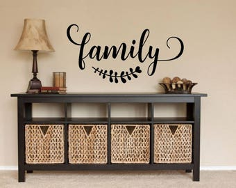 Family Wall Decal Family Vinyl Family Wall Decor Picture Wall Decal Family  Word Decal Vinyl Family