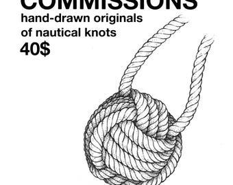 Custom nautical knot illustration