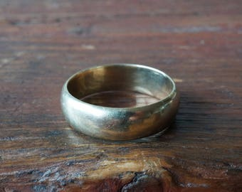 1950s 8K 333 Vintage Wide Wedding Band in Yellow Gold