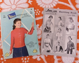 Vintage 1950s  knitting pattern booklets for children x 3 - cute novelty knits galore plus classic styles