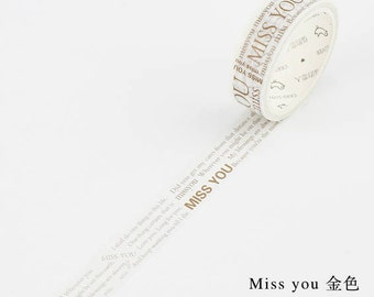 Miss you washi tape