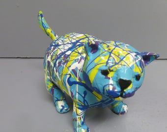 ceramic chubby cat