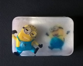 "Original soap with  toy / figure "" MINION ""  Orange Blossoms fragrance"