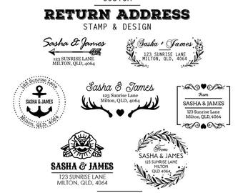 Return Address Custom Rubber Stamp (Timber) with a Design from our Templates (Your Text)