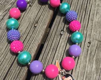 Moana Chunky Necklace // Bubblegum Necklace // Moana