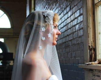 AVA |  Mantilla Veil, Lace Mantilla Veil, Catholic Veil, English Net Mantilla Veil