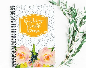 52 Week | On The Go Family Planner | Full Year | Weekly Layout | Calendar | 5.5X8.5 | Wire Bound | Lay Flat