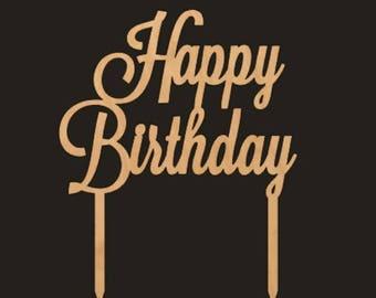 DIY Cake Topper, Happy Birthday Cake Topper