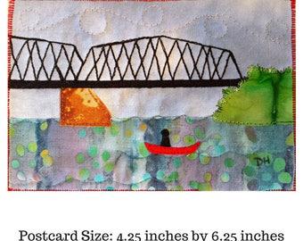 Walking Bridge Quilt Pattern / Quilting Patterns  / Quilt Pattern / Simple Quilt Patterns / Gifts for Quilters / Art Quilt Patterns / Quilt