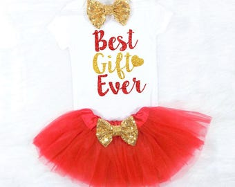 newborn christmas outfit best gift ever outfit christmas tutu outfit girls christmas outfit newborn girl christmas outfit baby christmas
