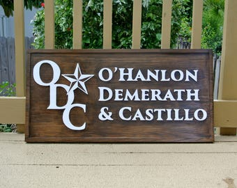 Outdoor Business Company Logo Advertising Signage. Carved Wooden Business Name wood sign