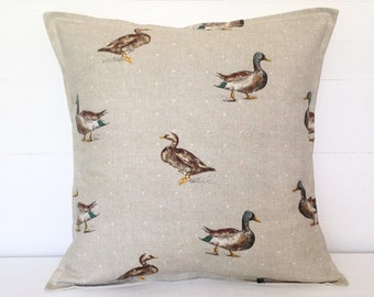 Ducks Cushion Cover, Ducks Pillow Cover