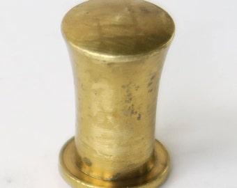 Brass Hardware: Small Brass Top Hat Drawer Knob Cabinet Pulls
